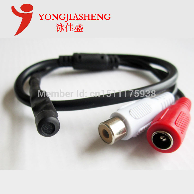 Free shipping Security Mic Microphone for CCTV Cameras Sound Monitor sound pick-up device Tiny Pick up(China (Mainland))