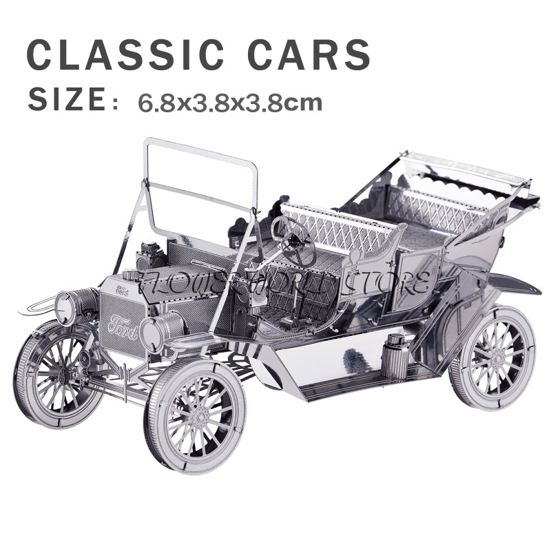 New creative Retro Car 3D puzzles 3D metal model Creative DIY Ford classic cars Jigsaws Adult/Children gift toys Perfect details(China (Mainland))