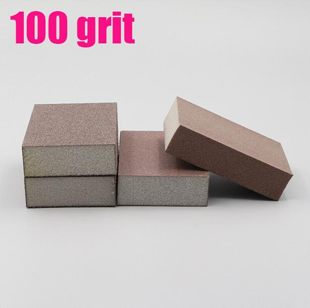 wooden work tools 100 grit Kitchen cleaning grease rust polishing grinder sanding sponge 90*70*25mm sandpaper<br><br>Aliexpress