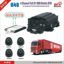 4 Channel d1 hdd mobile dvr for vehicles,4G tracking system MDVR with 4G GPS WIFI ,H40-4GW(China (Mainland))
