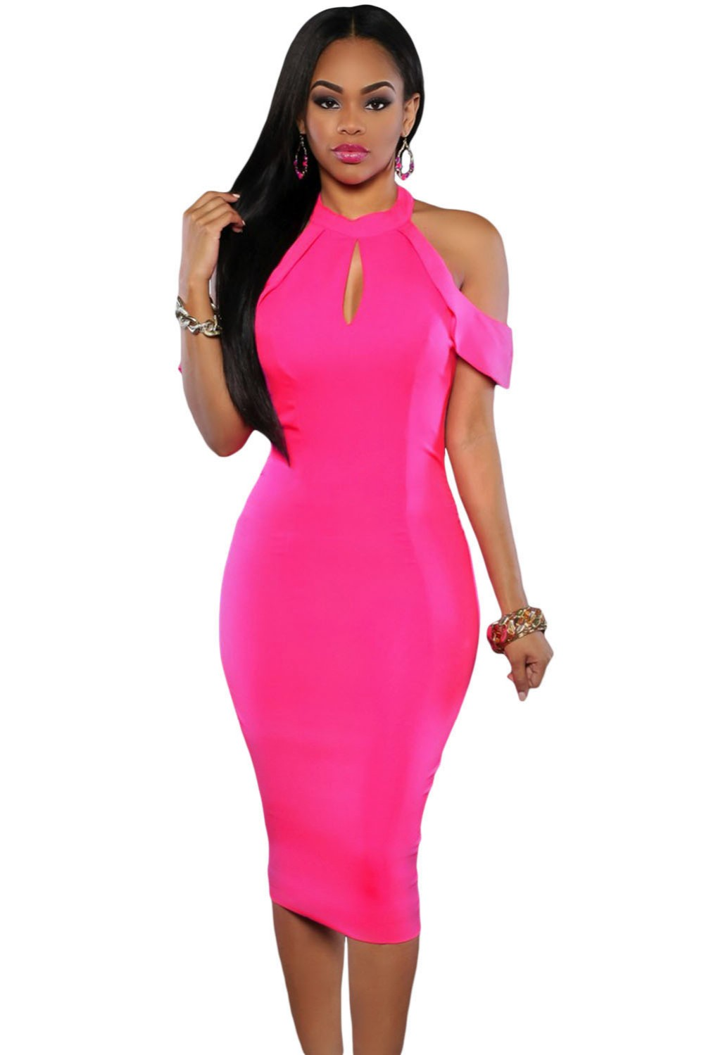 Rosy-Cute-Cold-Shoulder-Cutout-Halter-Midi-Dress-LC61125-6-1
