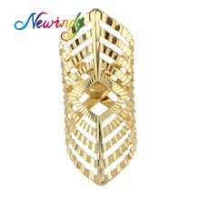 Buy Newindy Jewelry Gold-Color Silver Color Punk Party Finger Geometric Female Midi Rings Hollow Geometric Rings Fashion Anel for $1.20 in AliExpress store