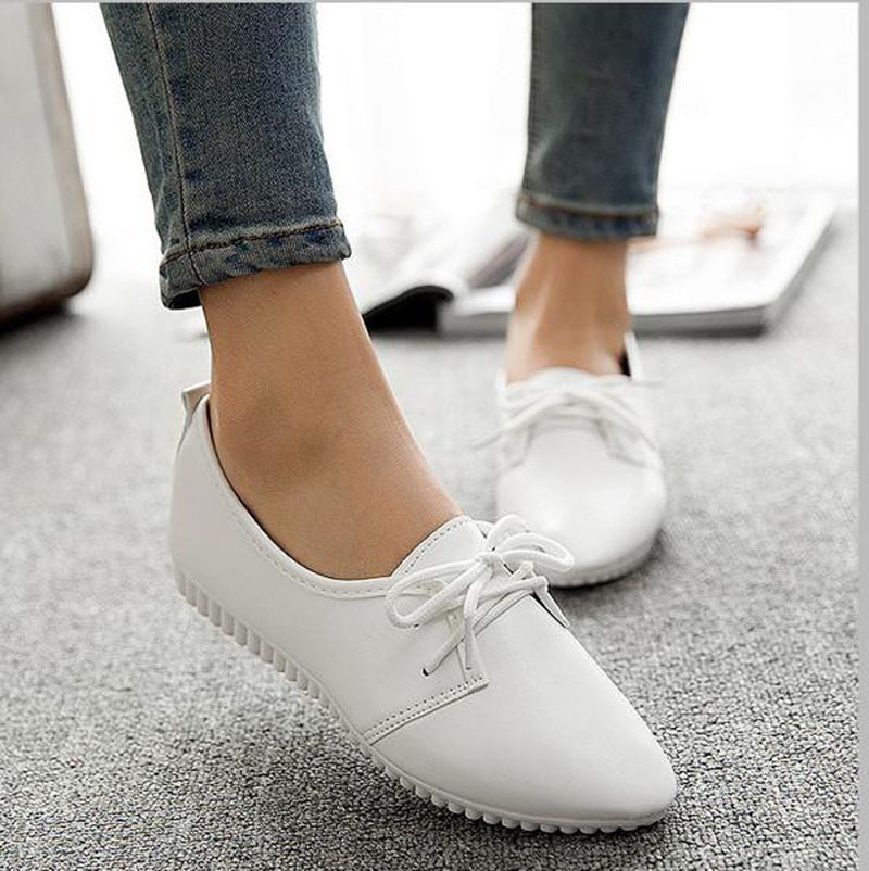 Promotion!New 2015 Women Black/White Flat Shoes Cheap Ballet Flats Womens Loafers Shoes Woman Moccasins sapato feminino(China (Mainland))
