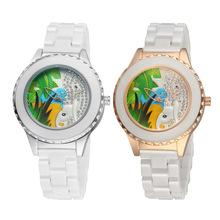 Caliente venta de la nueva moda lindo del elefante del estilo reloj de cuarzo No Second Dial Ceramic Ladies relojes mujeres relojes de regalo