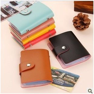 pinkycolor credit card photo memo note holder card case L4A38(China (Mainland))