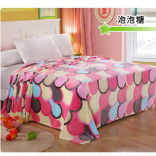 Home Textile Color Bubble style coral fleece blankets on the bed 4 Size for choice bedclothes bed sheet throws