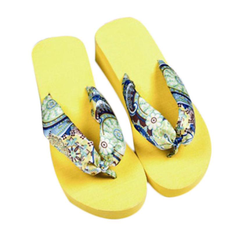 Гаджет  excellent quality 2015 HOT Casual Bohemia Women Sandal Platform Wedges Beach Flip Flops Home Slippers None Обувь