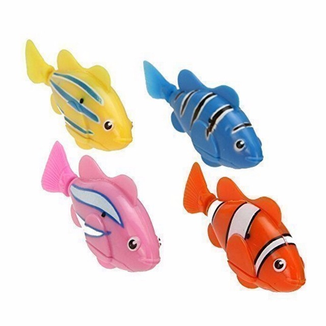 1PCS Random Color Fish Electric Toy Pet Fish With Aquatic Gift for Kids Children Activated Robotic Fish can Swims