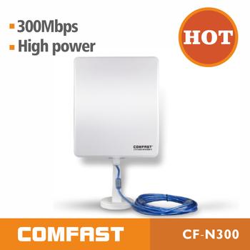 COMFAST CF-N300 Long Range Wireless Adapter OEM Long Range Outdoor High Power 36dBi Panel Directional Antenna Wifi USB Adapter