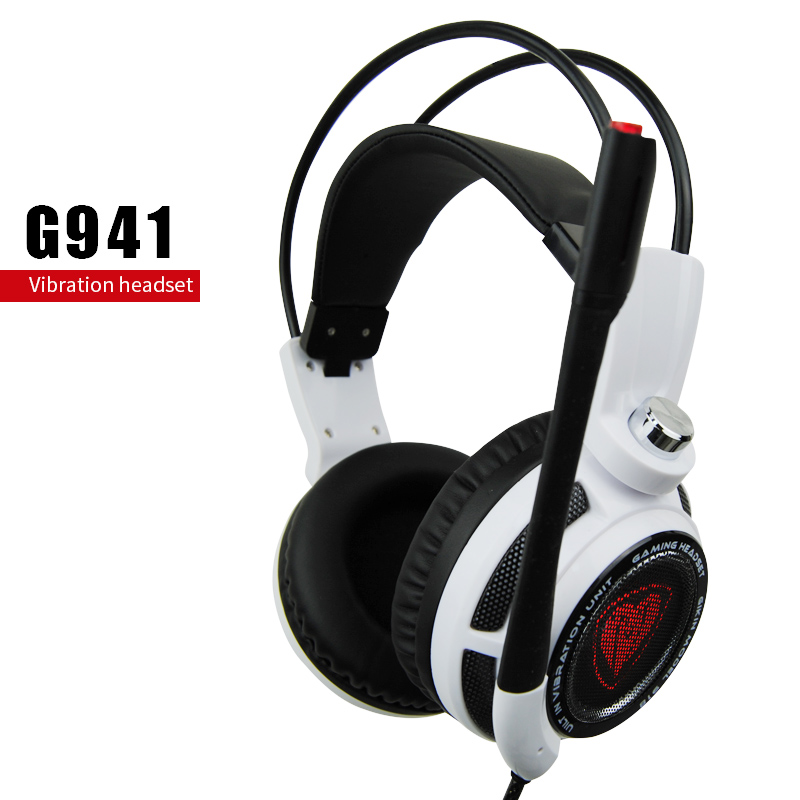 Extra Bass Over-the-Ear Headphones Acoustic Noise Cancelling Double Unit Earphones Headphones With Microphone For PC Gamer(China (Mainland))