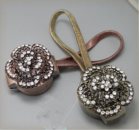 European Stylw Fashion Magnetic Curtain Buckle Ball Bandage Curtain Clip Curtain Accessories Magnet Flower(China (Mainland))
