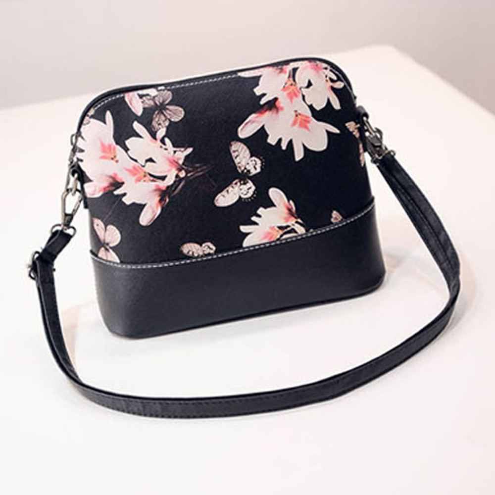 Feitong Korean Floral Printed Small Bag Women Ladies Shell Crossbody Messenger Handbag Purses Sling Shoulder bag Bolsa feminina(China (Mainland))