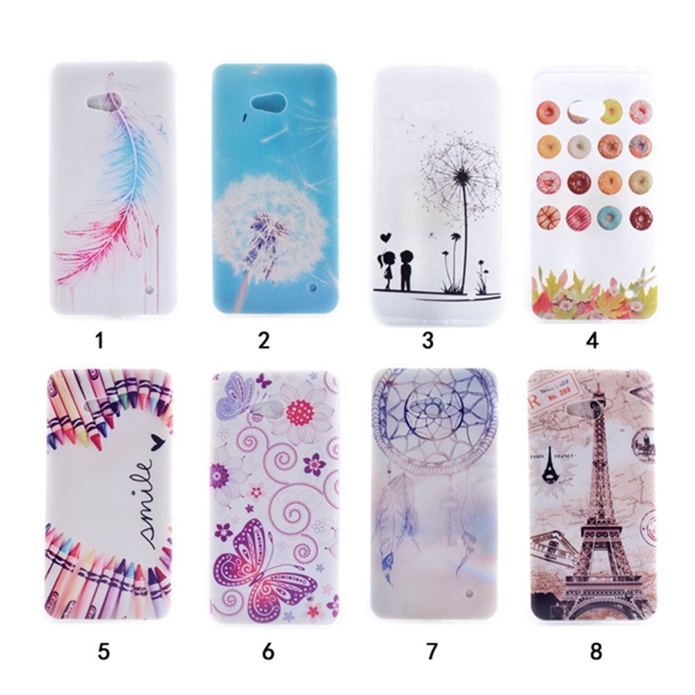 Patterned Ultra Slim Rubber Soft TPU Silicone Back Case Cover For Microsoft Nokia Lumia 640 RM-1109 RM-1072 RM-1073 RM-1074(China (Mainland))