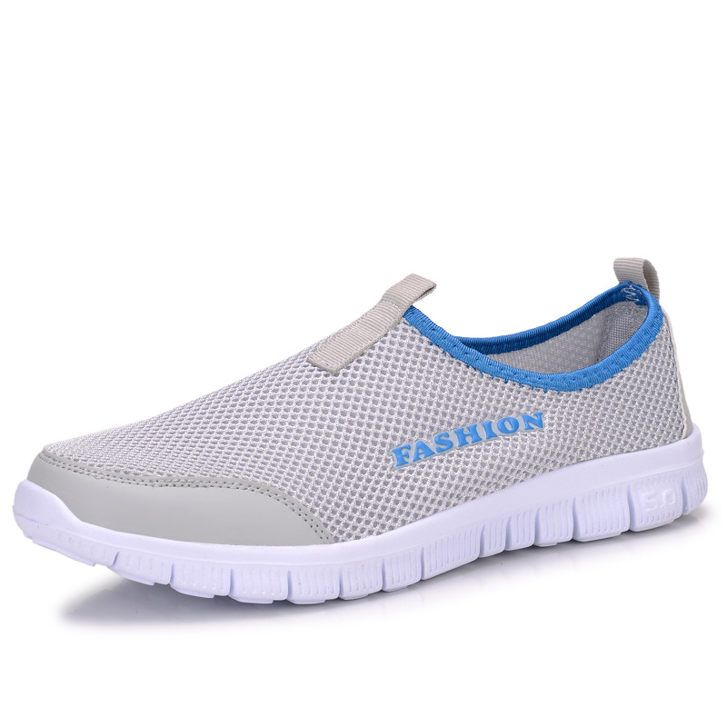 2016 Summer Men Casual Shoes Mens Flat Breathable Mesh Shoes Fashion Male Footwear Walking Shoes