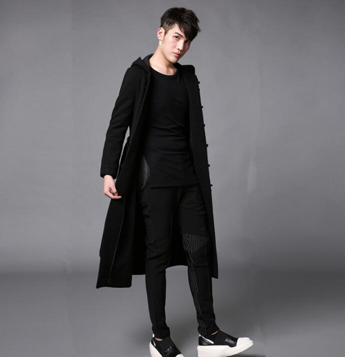 Compare Prices on Mens Black Peacoat with Hood- Online Shopping