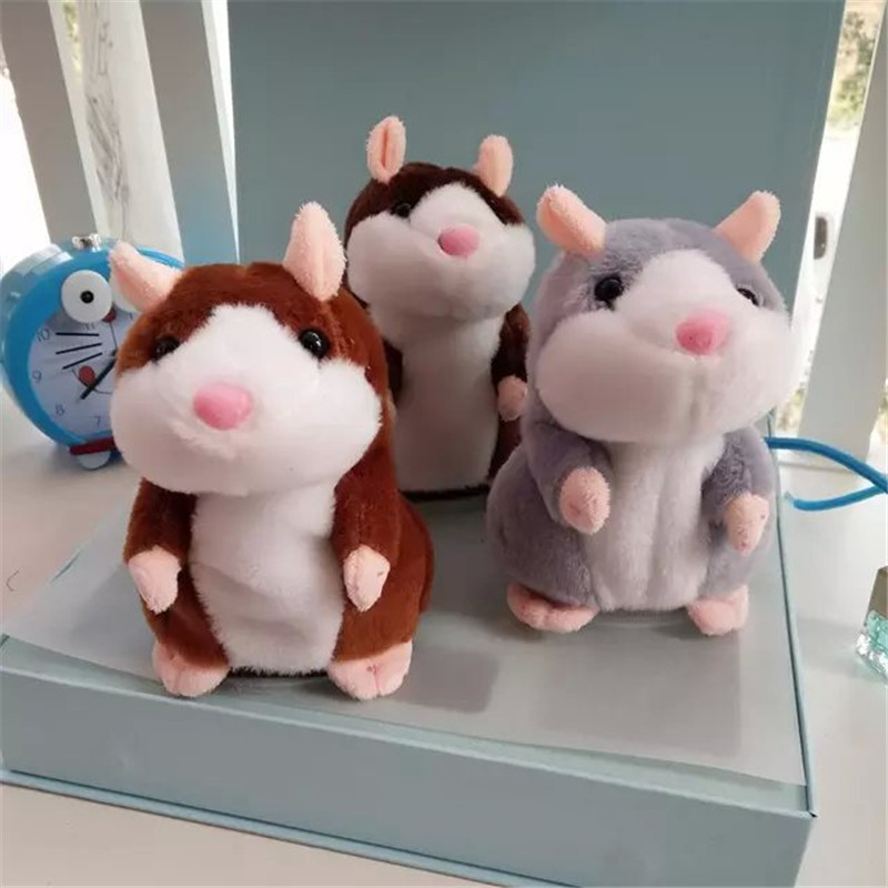 Kawaii Lovely Talking Hamster Plush Toy Sound Record Speaking Hamster Talking Toys For Children(China (Mainland))