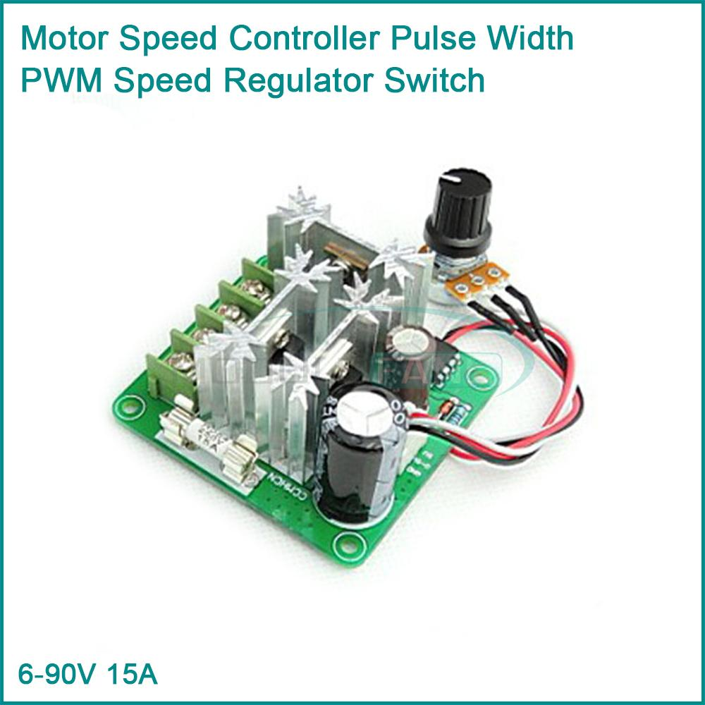 6 90v 15a Dc Motor Speed Controller Pulse Width Pwm Speed Regulator Switch In Integrated