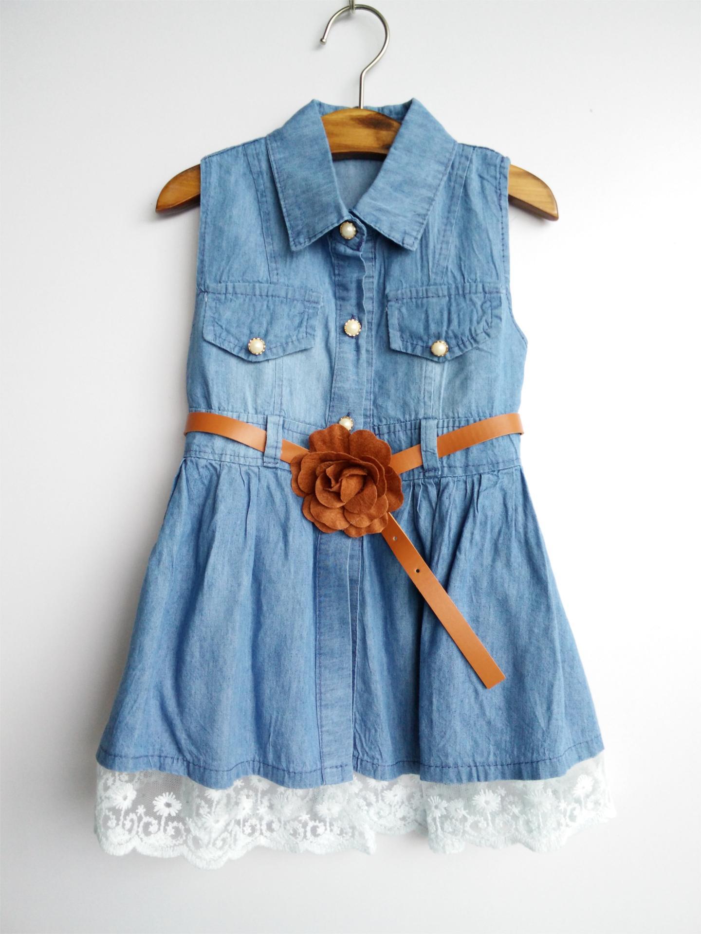 Джинсовое комбинированное платье для девочки своими руками