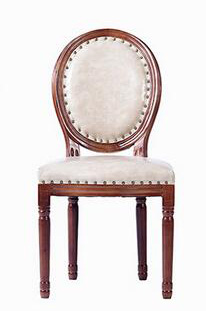 European Modern Antique Style Design Oak Wooden Retro Hotel Cafe Leather Dining Chair Solid Wood Furniture(China (Mainland))
