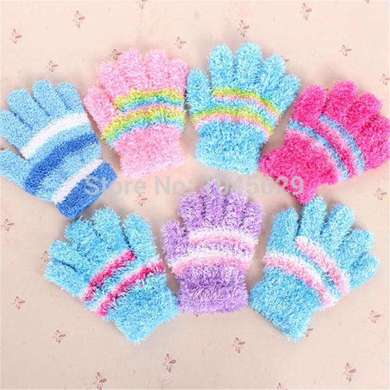 Fashion Cartoon Pattern Soft Mitten Kids Childrens Winter Warm Gloves Gifts(China (Mainland))