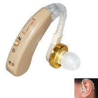 BEHIND the EAR Sound Voice Amplifier Deaf Hearing Aid Cyber Sonic Hearing Aid/TV hearing aids Powertone F-138 Freeshipping