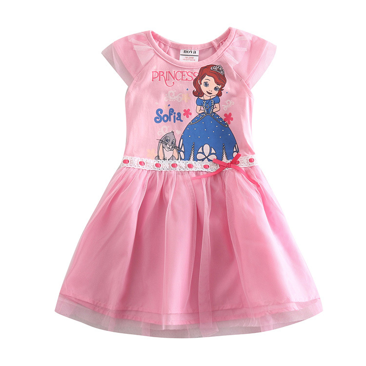 2-6T sofia princess pink kid wear,baby girl dress up for girl,All for children clothing accessories,vestidos infantis de menina(China (Mainland))