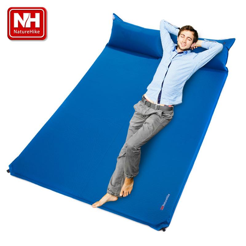 2014 Camping Mattress Two Seat Self-Inflating Mat Pad Portable Bed with Pillow Camping Equipment - NatureHike(China (Mainland))