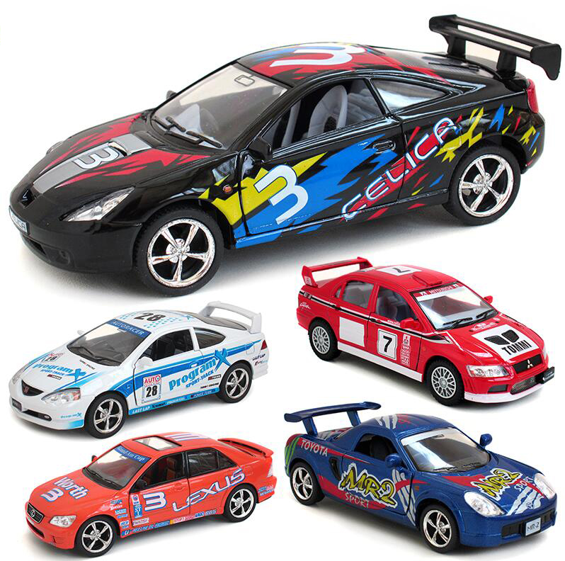 1/36 Car Model Toys Toyota Mitsubishi Subaru Impreza WRC 2007 Racing Car Diecast Metal Pull Back Car Model Toy For Gift/Kids(China (Mainland))