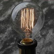 Edison tungsten filament vintage antique Arte Lights Bulbs Reproduction light G80 E26/E27 220V 110V Halogen Bulbs Free Shipping(China (Mainland))