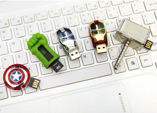 100 Real memory Stick pendrive 4GB 8GB Free shipping Avengers Thor Hammer Hulk Iron Man 2