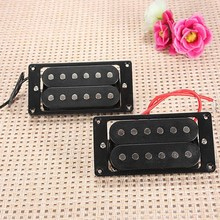 2Pcs Black Humbucker Double Coil Electric Guitar Pickups+Frame Screw For Fender(China (Mainland))