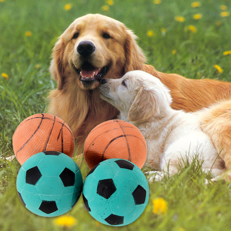 Hot New Practical Solid Dog Toys Training Playing Chewing Bouncy Ball Pet Toy Football/ Basketball Free Shipping(China (Mainland))