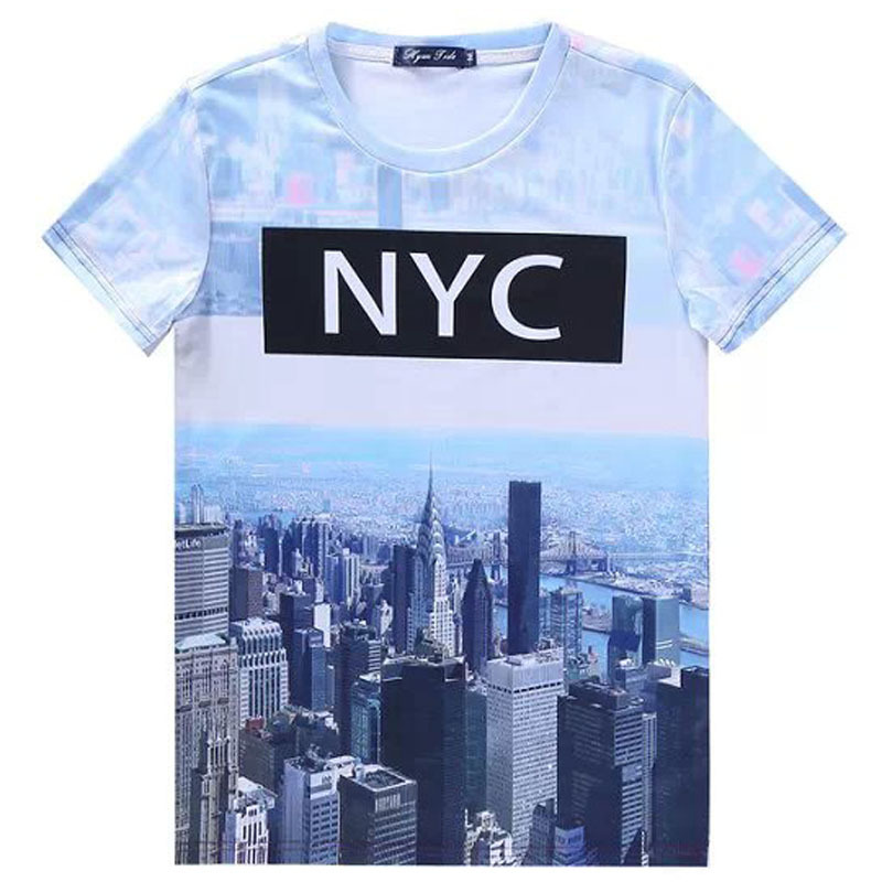 2015 harajuku women men t shirt cropped t shirt 3d totoro for New york printed t shirts