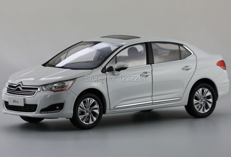 Free Shipping New 1:18 Scale High quality China Citroen C4L car model Die Cast Alloy Car Model Toys Gift for Children,WHITE(China (Mainland))