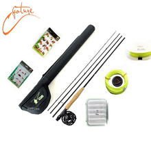 5/6 Fly Fishing Rod Tackle Set Including 2.7M carbon fly fishing rod and reel with line and lure Files and line connector