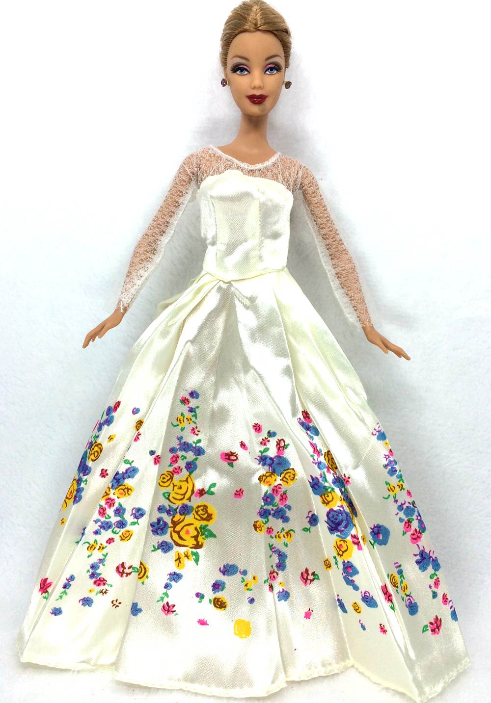 fairy tale cinderella wedding dress gown party outfit for barbie doll