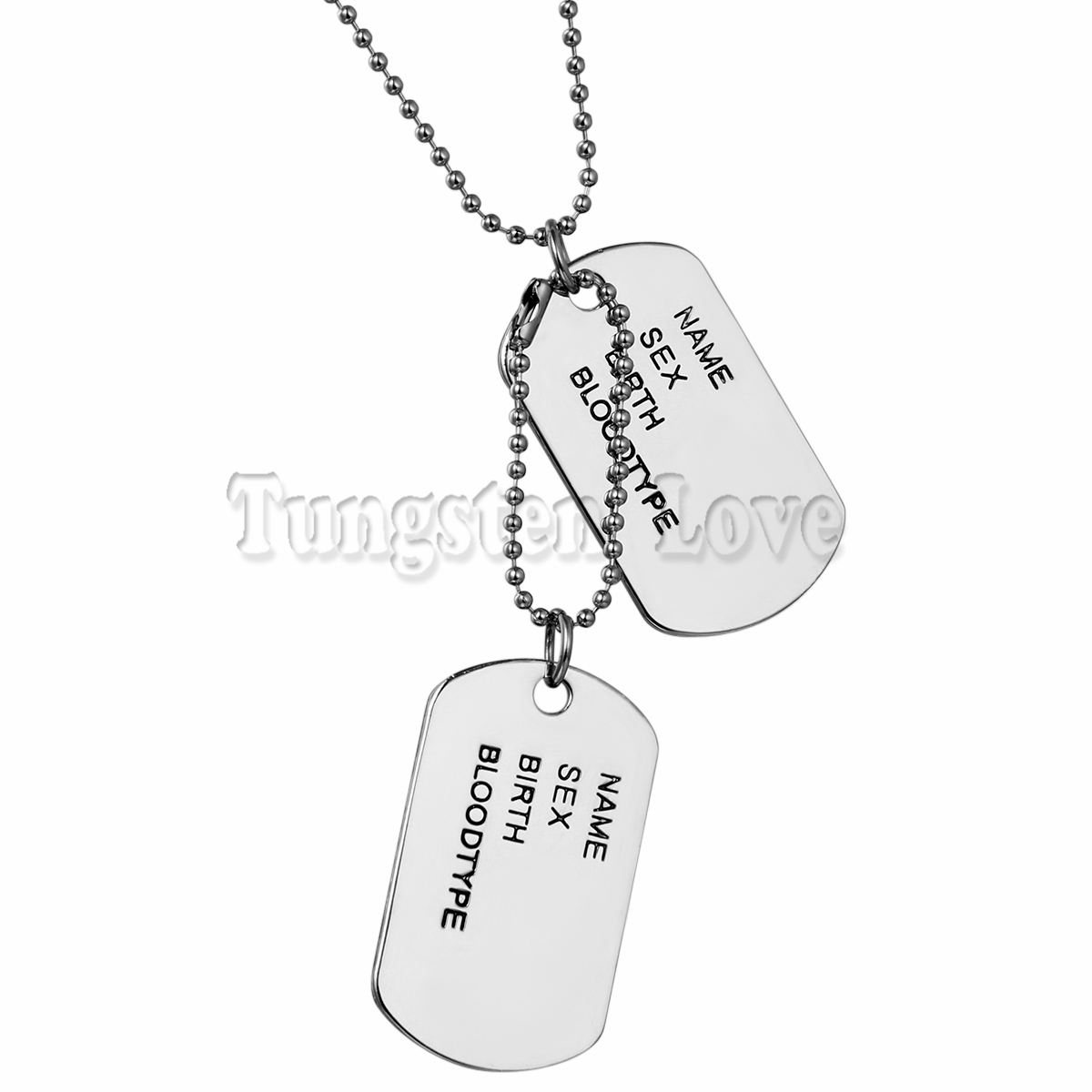 Military Army Style Silver 2 Dog Tags Chain Mens Pendant Necklace Jewelry Accessories 70cm long Chain collares hombres(China (Mainland))
