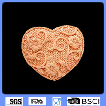 Gigh Quality Embossing Mould Sugar Art Tools Heart Flower rattan shaped 3D silicone cake fondant mold, cake decoration tool 9145(China (Mainland))