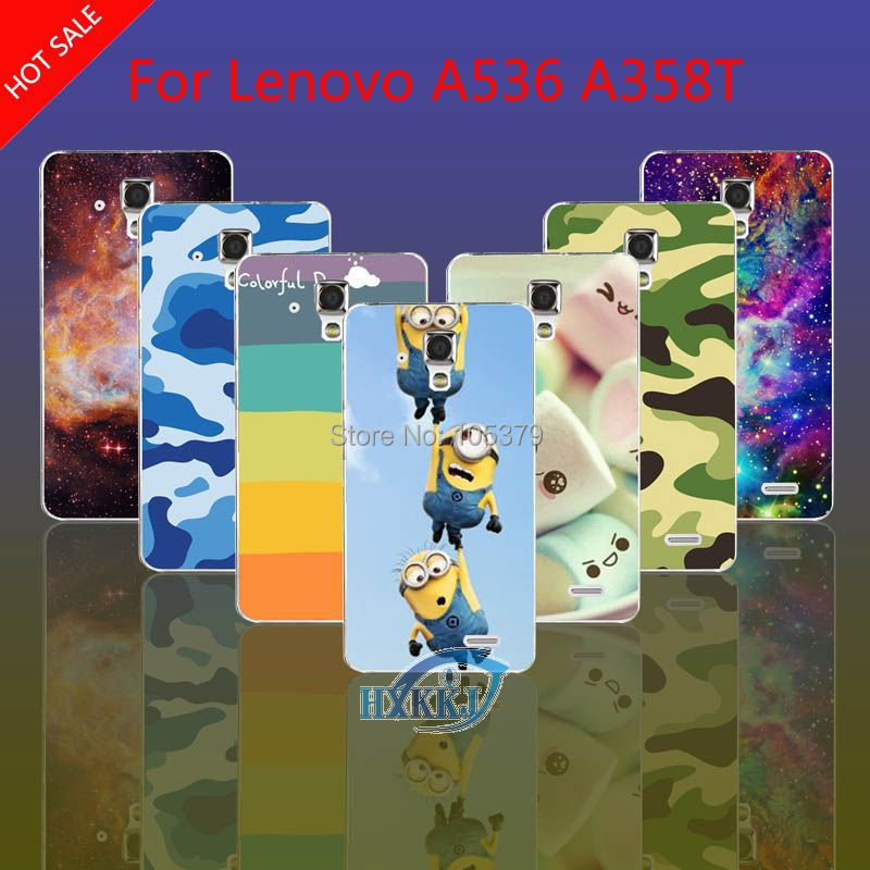 For Lenovo A536 A358T Case Girl Leopard Zebra Skull Cat Fish Lotus Flower Rainbow Despicable Me Hard Back Cell Phone Case(China (Mainland))