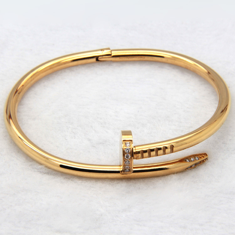 Fashion Brand Jewelry 2 Kinds Of Size Men And Women Love Bracelets Bangles 316L Stainless Steel