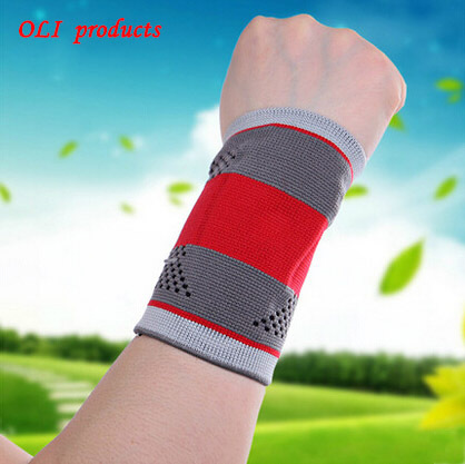 Exclusive appearance design silica gel sports wristband volleyball badminton wrist support bracers free shipping #wrist7601(China (Mainland))