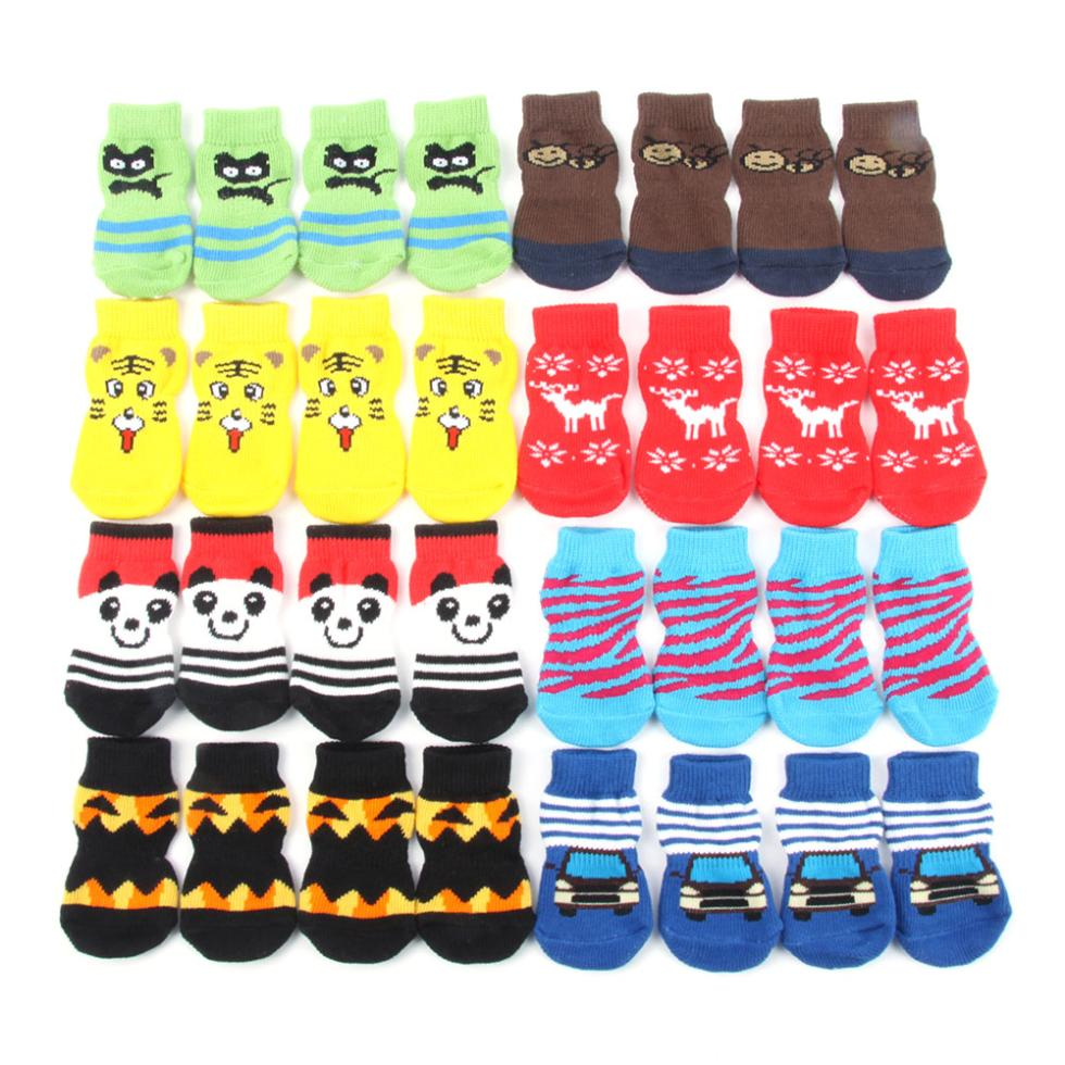 Best Price Sales Small Pet Dog Doggy Shoes Lovely Soft Warm Knitted Socks Clothes Apparels For S-XL(China (Mainland))