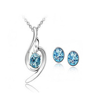 hottime jewelry / fashion jewelry necklaces pendants earrings + necklace Chinese supplier sets / 011005(China (Mainland))