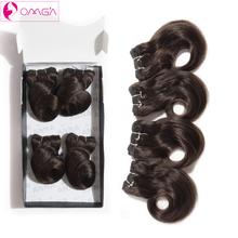 Brazilian Virgin Hair Body Twist 4 Bundles #1B #2 #4 120g/Set Human Hair Weaves Brazilian Body Wave 2*8′ 2*10′ 7A Grade