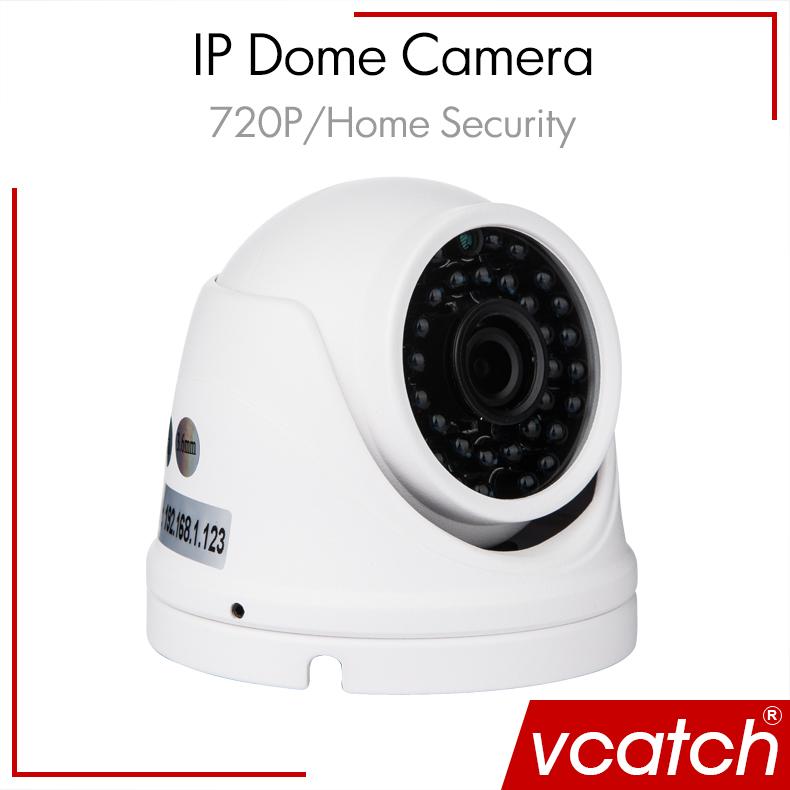 Free Shipping IP Security Camera ONVIF 720P 1.0MP Mini Security Outdoor Waterproof IP HD Aluminum Case IR CCTV Dome Video Camera(China (Mainland))