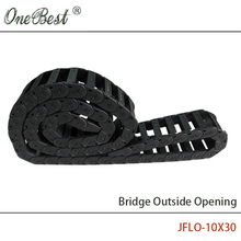 JFLO 1000mm 10x30mm Drag chain Wire Carrier cable Bridge Outside opening type Towline Protection Tanks chain with end connectors