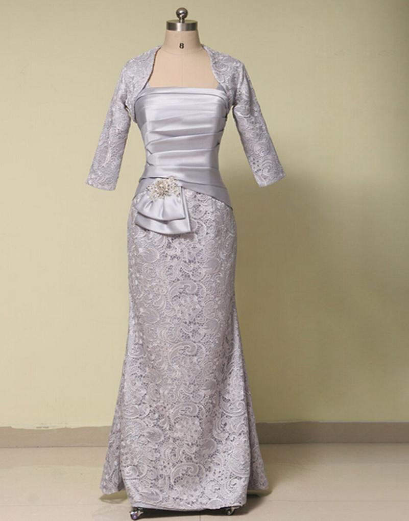 Elegant formal long lace mother dresses 2016 mother of the for Formal wedding dresses for mother of the bride