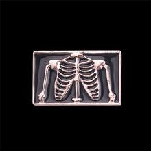Dokter Jantung Paru-paru Bayi Merah Enamel Bros Punk Perhiasan Hadiah untuk Dokter/Perawat Medis Emas Perak Kerah Pin Aksesoris(China)