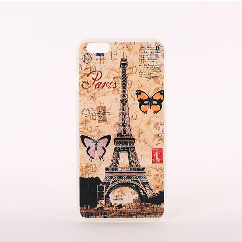 Old Eiffel Cell Phone Cover Case for Apple Iphone 6 Plus 5.5 inch Fashion Original Capa Para Painted Plastic Phone Protector(China (Mainland))