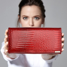 Women Wallets Brand Design High Quality Leather Wallet Female Hasp Fashion Dollar Price Alligator Long Women Wallets And Purses(China (Mainland))